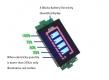 Индикатор емкости LiPo Li-ion аккумуляторов из 1 ячейки 1S 3.3В - 4.2В синий дисплей